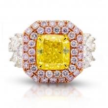 Ring 3.02 Fancy Intese Greenish Yellow